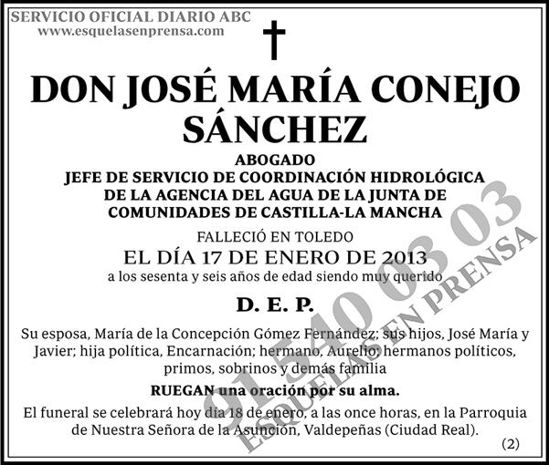 José María Conejo Sánchez